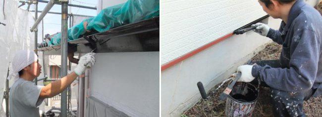 施工の流れ6日目 各部分の補修や塗装