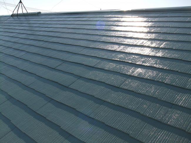 屋根 上塗り後