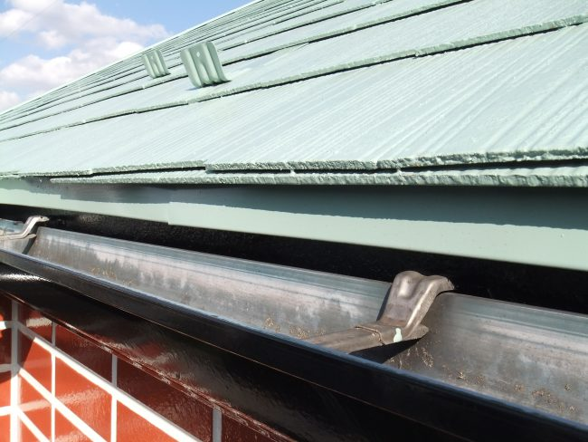 屋根 水切り塗装