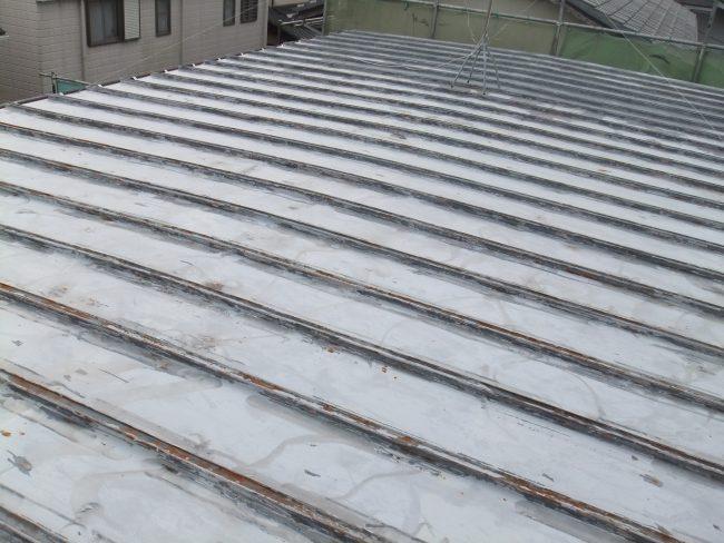 ケレン後 屋根