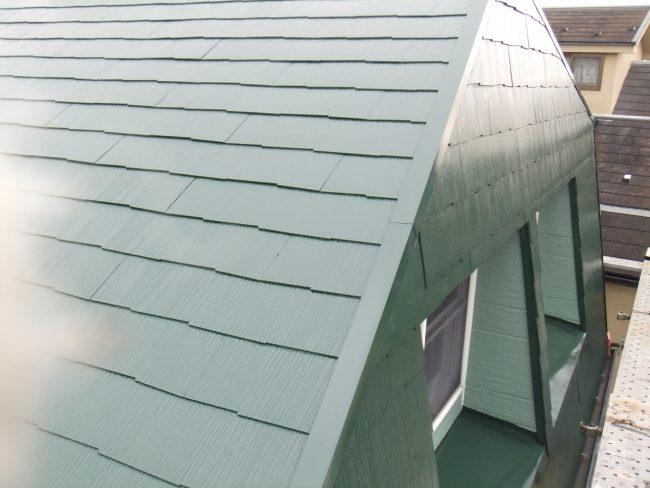 屋根 塗装後